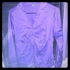 Apt 9 purple button up top